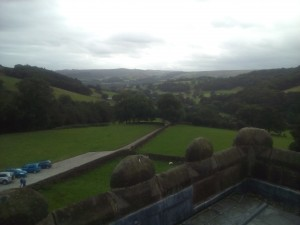 View over Hope Valley from hall roof
